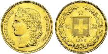 20f Suisse -piece or_or et compagnie