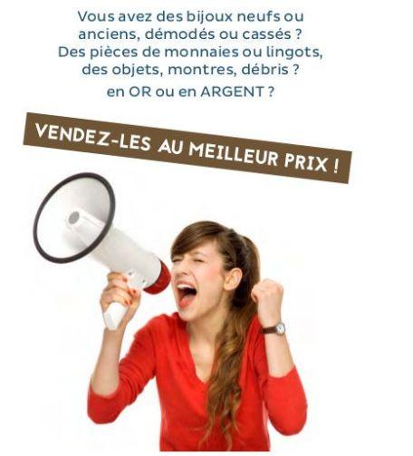 Flyer achat or et argent Bordeaux - Or et cie