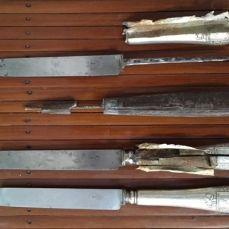 Couteau manche Argent fourré