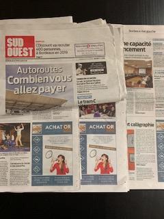 Parution Sud Ouest Bordeaux - achat or et compagnie - rachat or eysines