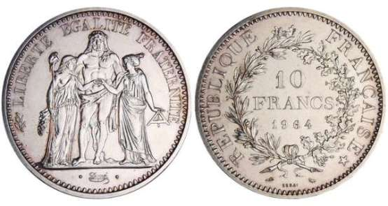 francs-hercule-1964-essai- or et compagnie
