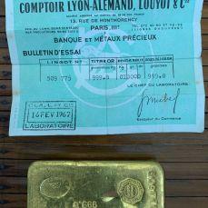 Lingot or 1kg CLAL - or et compagnie Eysines